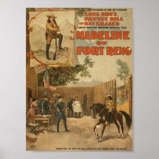 Madeline del teatro del vintage de Reno del fuerte Posters