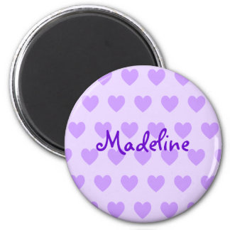 Madeline en púrpura imán de nevera