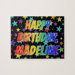 "[ Thumbnail: ""Madeline"" First Name, Fun ""Happy Birthday"" Jigsaw Puzzle ]"
