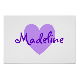 Madeline in Purple Poster