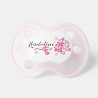 """""""Madeline"""" Personalized Name Blossom Pacifier"""