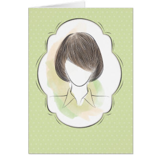 Madeline - portrait of a woman card