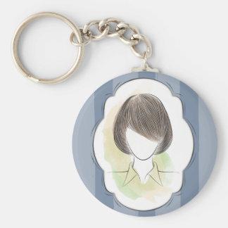Madeline - portrait of a woman keychain