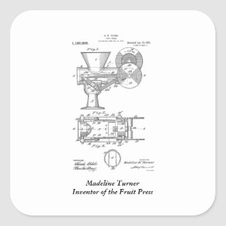Madeline Turner Fruit Press Square Sticker