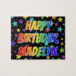 """[ Thumbnail: """"Madelyn"""" First Name, Fun """"Happy Birthday"""" Jigsaw Puzzle ]"""
