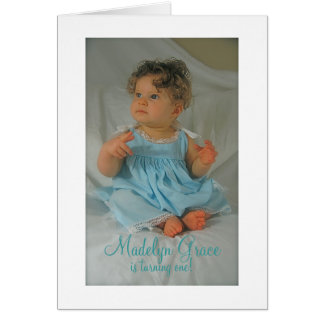 Madelyn Grace, is turning one! Card