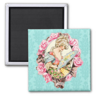Mademoiselle 2 Inch Square Magnet