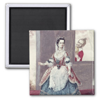 Mademoiselle Contat  in the Role of Suzanne 2 Inch Square Magnet