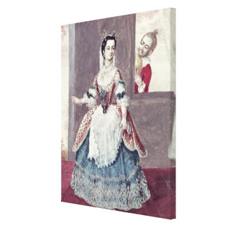 Mademoiselle Contat  in the Role of Suzanne Canvas Print