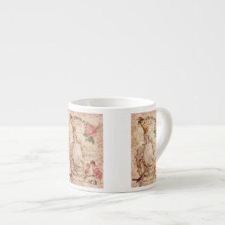 Mademoiselle Couture 6 Oz Ceramic Espresso Cup