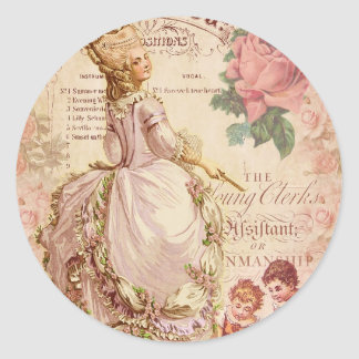 Mademoiselle Couture Classic Round Sticker