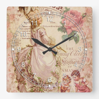 Mademoiselle Couture Square Wallclock