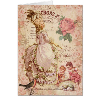 Mademoiselle Couture Greeting Card