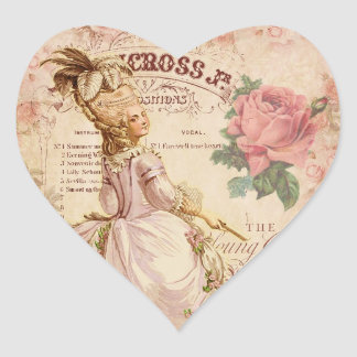 Mademoiselle Couture Heart Sticker