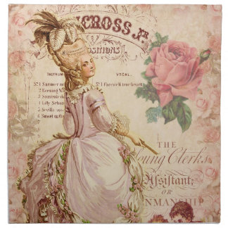 Mademoiselle Couture Printed Napkin