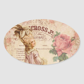 Mademoiselle Couture Oval Sticker