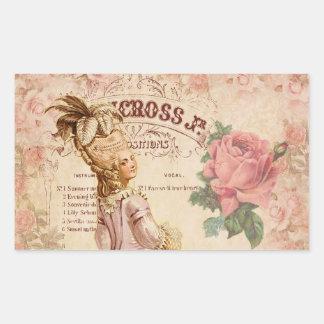 Mademoiselle Couture Rectangular Sticker