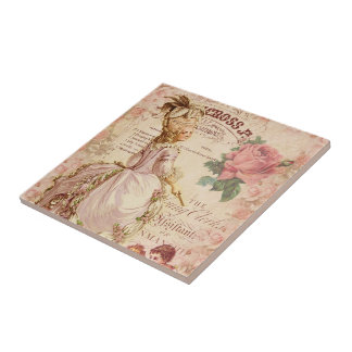 Mademoiselle Couture Small Square Tile
