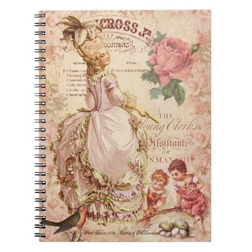 Mademoiselle Couture Spiral Notebook