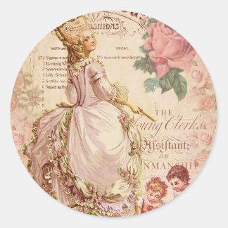 Mademoiselle Couture Round Sticker