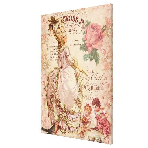 Mademoiselle Couture Stretched Canvas Print