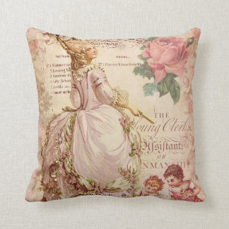 Mademoiselle Couture Throw Pillow