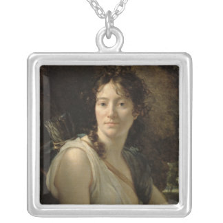 Mademoiselle Duchesnoy in the Role of Dido Square Pendant Necklace