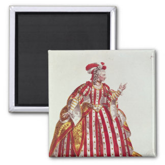 Mademoiselle Dumesnil  in the Role of 2 Inch Square Magnet