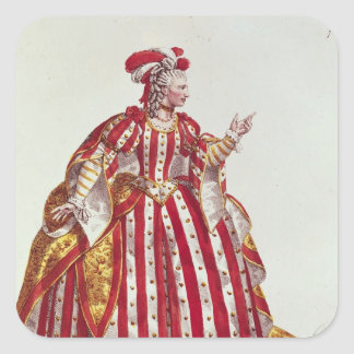 Mademoiselle Dumesnil  in the Role of Square Sticker