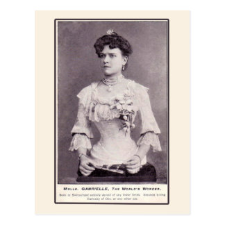Mademoiselle Gabrielle The Half-Woman, on Cards Postcards