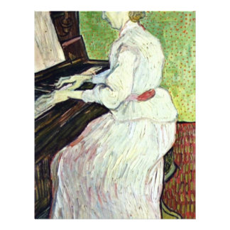 Mademoiselle Gachet At The Piano,  By Vincent Custom Flyer