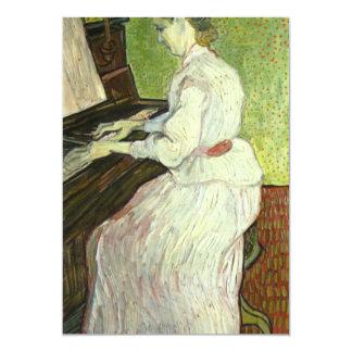 Mademoiselle Gachet en el piano de Van Gogh Invitación 12,7 X 17,8 Cm