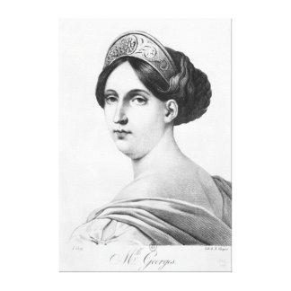 Mademoiselle George, 1825 Canvas Print