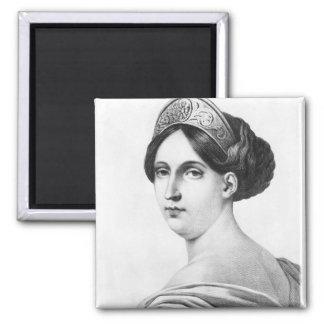 Mademoiselle George, 1825 Imán Cuadrado