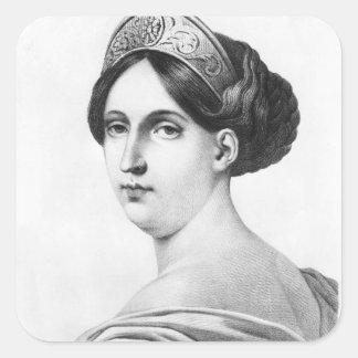 Mademoiselle George, 1825 Pegatina Cuadrada