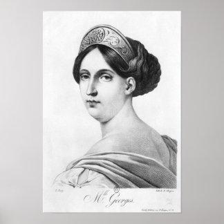 Mademoiselle George, 1825 Poster