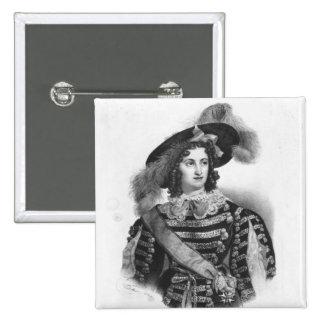 Mademoiselle George en el papel de la reina Pin Cuadrada 5 Cm