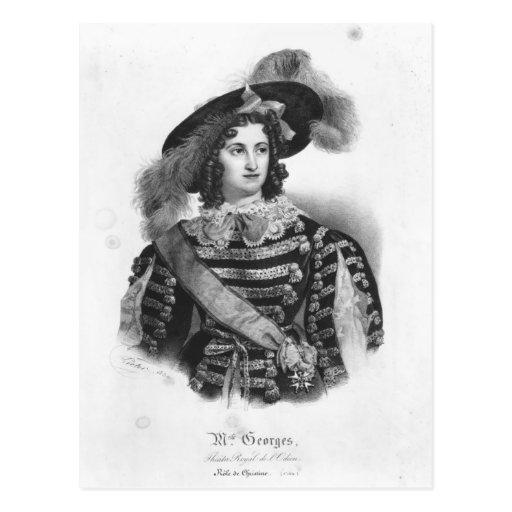 Mademoiselle George en el papel de la reina Tarjeta Postal