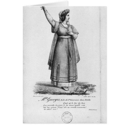 Mademoiselle George en el papel Tarjeta De Felicitación