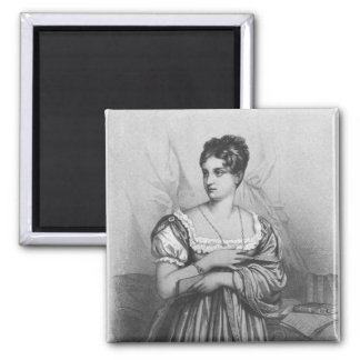 Mademoiselle George, engraved by J. Champagne 2 Inch Square Magnet