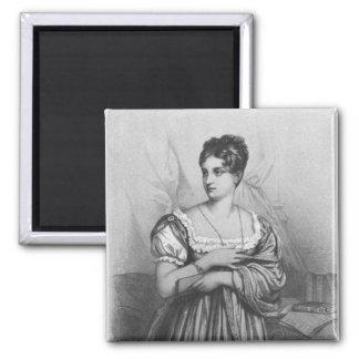 Mademoiselle George, grabado por J. Champán Imán Cuadrado