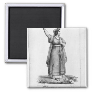 Mademoiselle George in the role 2 Inch Square Magnet