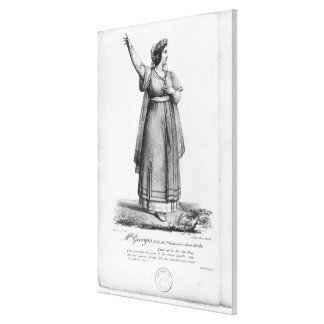 Mademoiselle George in the role Canvas Print