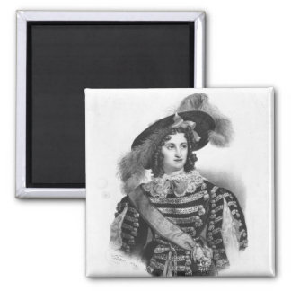 Mademoiselle George in the role of Queen 2 Inch Square Magnet