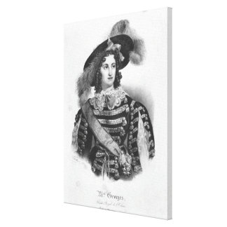 Mademoiselle George in the role of Queen Canvas Print
