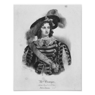 Mademoiselle George in the role of Queen Poster