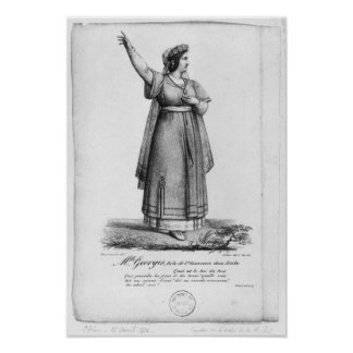 Mademoiselle George in the role Poster