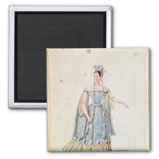Mademoiselle Georges in 'Isabeau de Baviere' 2 Inch Square Magnet