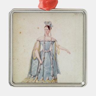 Mademoiselle Georges in 'Isabeau de Baviere' Metal Ornament