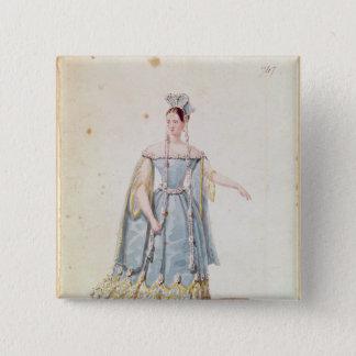 Mademoiselle Georges in 'Isabeau de Baviere' Pinback Button